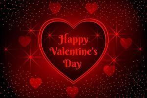 Feliz día de san valentín corazones y luces de diseño