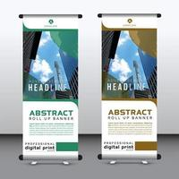 corporate vertical banner vector