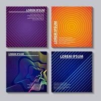 Neon patterns and spirals abstract cover vector