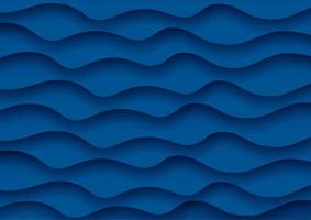 Abstract wave background in classic blue