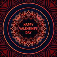 Glad Alla hjärtans dag med mandala bakgrund
