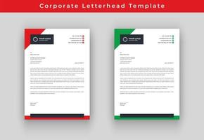 Red and Green Triangle Business letterhead