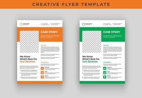 Case study flyer template vector