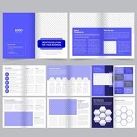 Business or Company Brochure Template in Purple vector