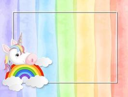 Un fondo de unicornio de color pastel