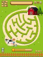 Una plantilla de juego de mesa de tierras agrícolas vector