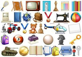 Office Household Objects Collection  vector