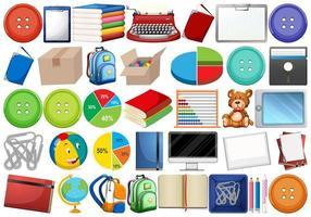 Conjunto educativo y escolar vector