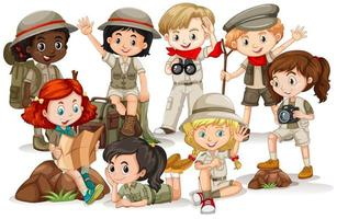 Boys and Girls in Outdoor Clothes