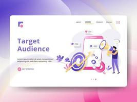 Target Audience Landing Page vector