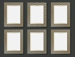 Gold Patterned Luxury Blank Template Set