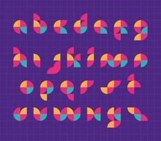 Letras do alfabeto geométricas vetor