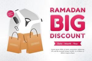 Poster di sconto del Ramadan vettore