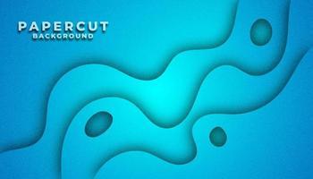 Blue Cut Paper Layered Background
