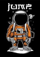 Ilustração de jogador de bola de basquete de astronauta vetor