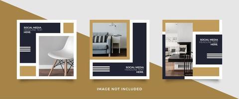 Social media post furniture template vector