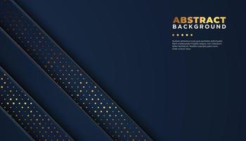 Dark abstract background with diagonal overlap layers vector