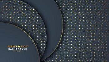 Dark Abstract Background with Overlapping Circles