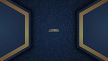 Dark Blue Background with Overlapping Trapezoid Layers vector