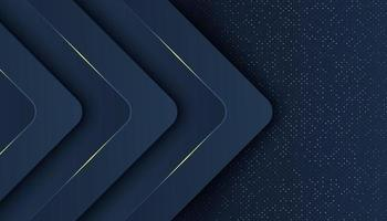 Navy background with overlapping arrow layers vector