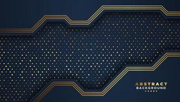 Navy abstract background with circuit overlapping layers vector
