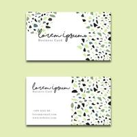 Elegant Business Card Terrazzo Style