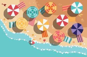 Diseño plano de playa de verano