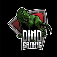 Dino Gaming Team Mascot vector
