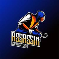 Assassin Team Mascot Design vector