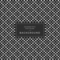 Abstract Black and White Looped Shapes Background