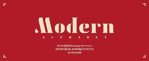 Bold Serif Modern Typeface with Upper and Lower Cases vector