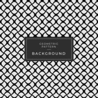 Abstract Geometric Black and White Curvy Line Background