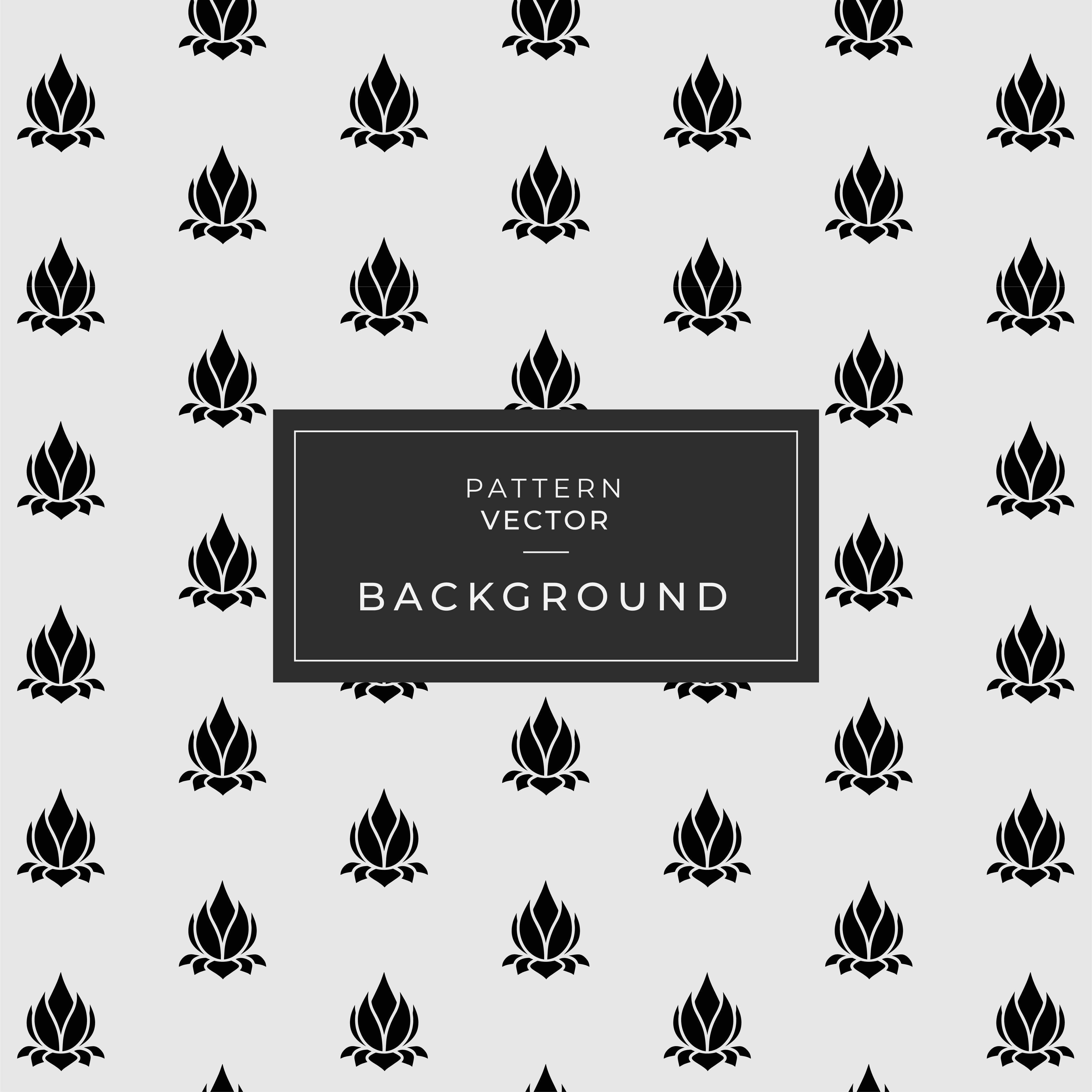 Black Marble Design with Lotus Floral Pattern - Download Free