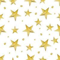 Golden Shiny Star Pattern vector