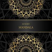Golden Split Design Mandala with Copy Space