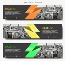 Horizontal Banner Set with Zigzag Design
