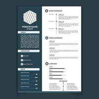 Professional Navy Resume Template
