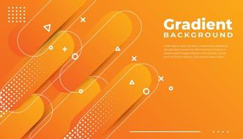Orange Rounded Geometric Shapes Background vector