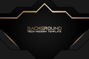 Metallic Diamond Shape Background with Golden Black Frame vector
