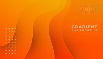 Fondo de ondas gradiente naranja