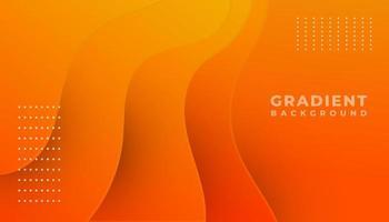 Orange Gradient Waves Background vector