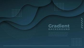 Dark Blue Background Overlapping Layers on Top vector