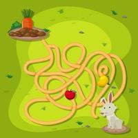 um jogo de labirinto de quebra-cabeça de coelho