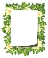 Beautiful flower frame template