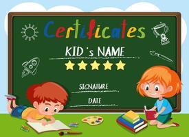 A chalkboard certificate template