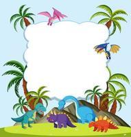 A Dinosaur frame  vector