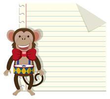 Set of monkey on note
