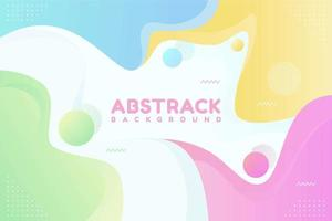 Colorful Geometric Background with Fluid Shapes