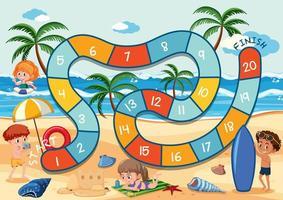 tema de verano juego de mesa vector