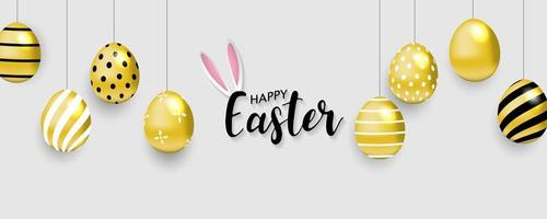 Happy Easter Background Banner